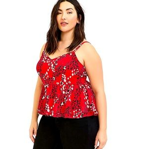 NWT Womens Plus Size 5X Torrid Peplum Crop Top